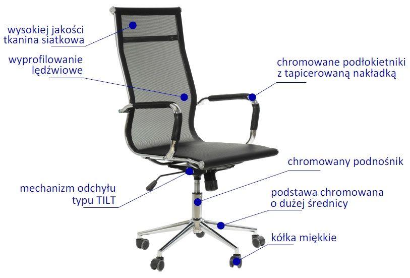 Fotel Biurowy Obrotowy Draft Ne633 Czarny Krzesła Obrotowe Z