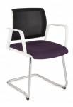Krzesło konferencyjne Set White V Net Arm Chrome