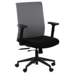 Fotel Biurowy obrotowy RIVERTON F/L czarny-szary