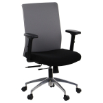 Fotel Biurowy obrotowy RIVERTON F/L-ALU czarny-szary