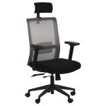 Fotel Biurowy obrotowy RIVERTON M/H czarny-szary