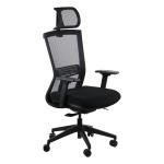 Fotel biurowy HOPE czarny - atestowany
