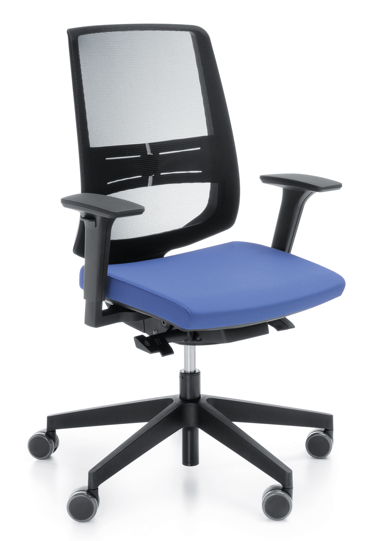 Fotel obrotowy lightUP 250 - oparcie siatkowe