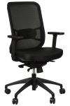 Fotel Biurowy obrotowy  EF-GN310  czarny - z wysuwem siedziska