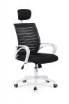 Fotel obrotowy SOCKET biało-czarny