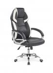 BARTON fotel gabinetowy czarno-biały