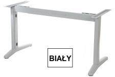 Stelaż metalowy do biurka EF-STL-01 biały - rozsuwana belka