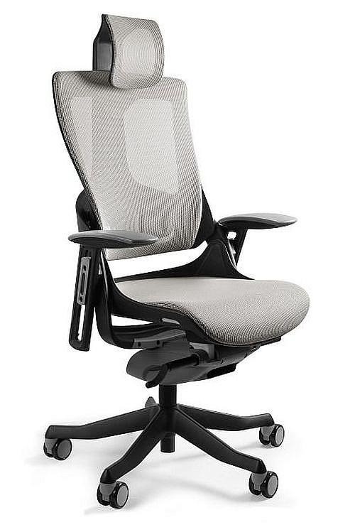 Krzesło biurowe czarne – obrotowe – siatka dla graczy
