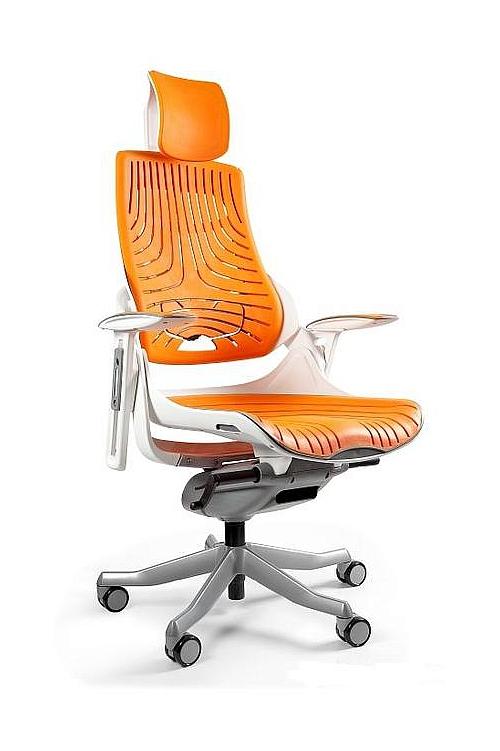 Fotel Obrotowy WAU Elastomer biały mango