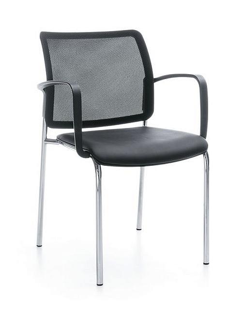 Krzesło biurowe konferencyjne BIT 550V plastikowe Krzesła