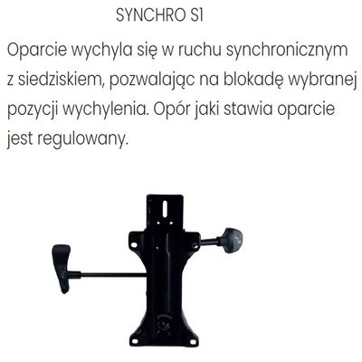 Fotel obrotowy ZUMA WHITE - Synchroniczny