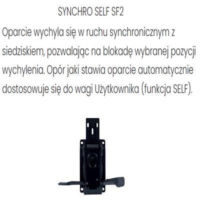 Fotel obrotowy ZUMA BLACK - Synchroniczny Self