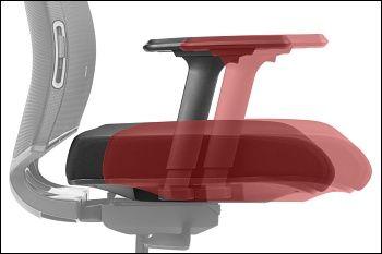 Fotel biurowy obrotowy OPEN AM/TM-120-121 - WYSUW siedziska