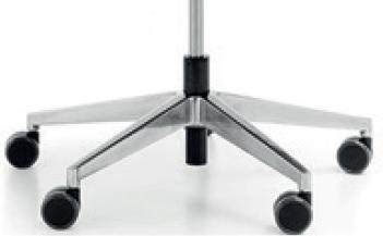 Fotel Biurowy obrotowy XENON NET101 - regulacja podparcia lędźwiowego - POLEROWANE ALUMINIUM