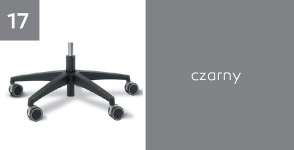 Fotel biurowy obrotowy DUAL black DU 102 - Czarna - 17