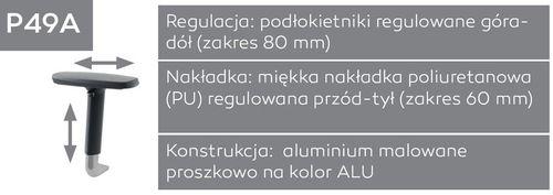 Fotel biurowy obrotowy DUAL black DU 102 - P49A