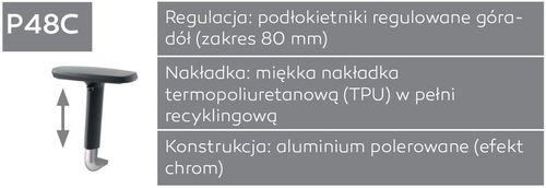 Fotel biurowy obrotowy DUAL black DU 102 - P48C