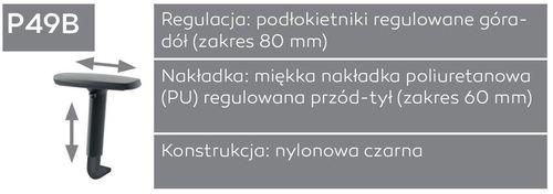 Fotel biurowy obrotowy DUAL black DU 102 - P49B