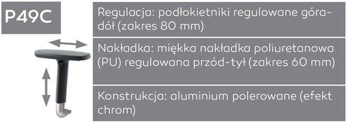 Fotel biurowy obrotowy DUAL black DU 102 - P49C