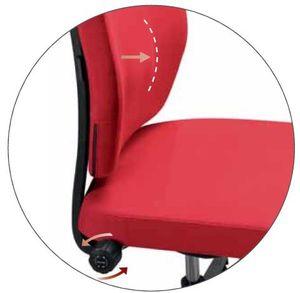 Fotel biurowy obrotowy DUAL black DU 102 - BLS: reg. głęb.podparcia lędźwiowego