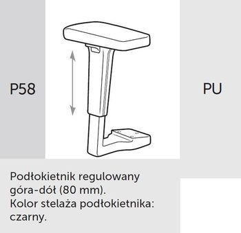 Fotel Biurowy obrotowy XENON NET101 - regulacja podparcia lędźwiowego - P58 PU