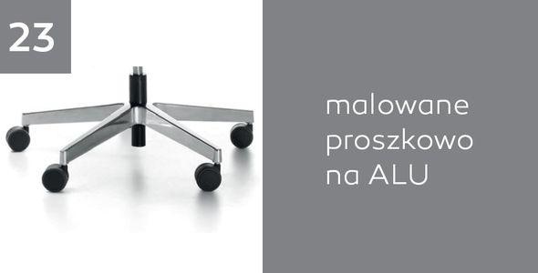 Fotel biurowy obrotowy DUAL black DU 102 - Alu - 23