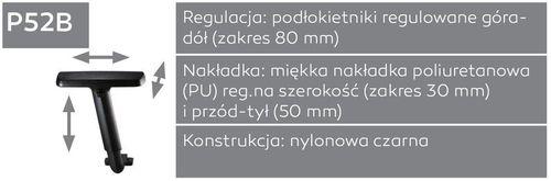 Fotel biurowy obrotowy DUAL black DU 102 - P52B