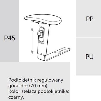 Fotel obrotowy RAYA 23 - P45 PU