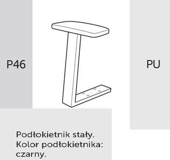 Fotel obrotowy RAYA 23 - P46 PU