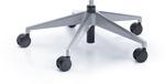 Fotel obrotowy VERIS NET 111 z zagłówkiem - metalik
