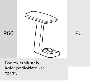 Fotel obrotowy lightUP 230 - P60 PU