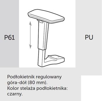 Fotel obrotowy lightUP 230 - P61 PU