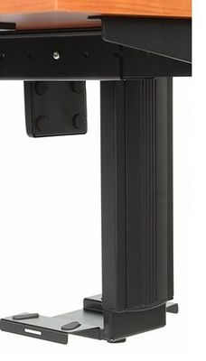 Stelaż elektryczny dwusilnikowy EF-SHB320-D650-F/B czarny - Półka podwieszana na komputer