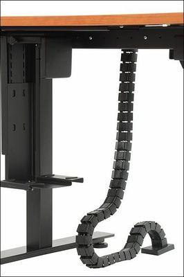 Stelaż elektryczny dwusilnikowy EF-SHB320-D650-F/B czarny - Kanał pionowy
