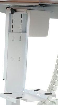 Stelaż elektryczny dwusilnikowy EF-UT04-2T/A-aluminium - Półka podwieszana na komputer