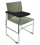 Krzesło biurowe konferencyjne ARIZ 550V plastikowe z pulpitem