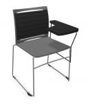 Krzesło biurowe konferencyjne ARIZ 555V na płozie z pulpitem