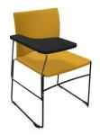 Krzesło biurowe konferencyjne ARIZ 570V tapicerowane - z pulpitem