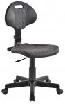 Krzesło laboratoryjne niskie czarne