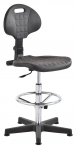 Krzesło laboratoryjne wysokie - chrom