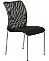 Krzesło konferencyjne  EF-HN7502 czarne - alu