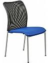 Krzesło konferencyjne  EF-HN7502 niebieskie - alu