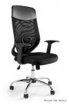 Fotel biurowy MOBI PLUS - CZARNY