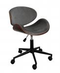 Fotel obrotowy FB5-FX - velvet szare