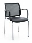 Krzesło biurowe konferencyjne BIT 555H siatka / plastik