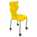 Krzesło ucznia Spider Move nr 3 - stelaż biały