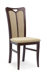 HUBERT2 krzesło ciemny orzech / tap: Torent Beige (1p=2szt)