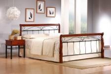 VERONICA łóżko 180 cm czereśnia ant./czarny