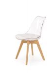 K246 krzesło bezbarwny / buk (1p=2szt)