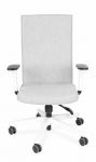 Fotel Biurowy obrotowy TEAM W PLUS WHITE  - białe podłokietniki różne tapicerki